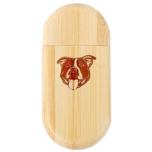 (Staffordshire Bull Terrier 8Gb Bamboo USB Flash Drive with Rounded Corners - Wood Flash Drive with Laser Engraving - 8Gb USB Gift for All Occasions)