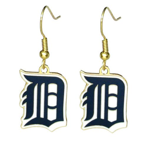 MLB Detroit Tigers Logo Dangler Earrings -