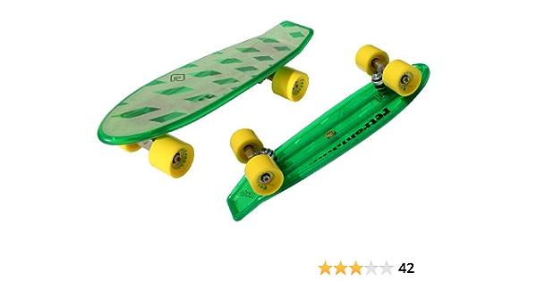 geeignet f/ür Kinder mit LED-Leuchtr/ädern Jungen und M/ädchen EIN 22-Zoll-Mini-Retro-Skateboard cuepar EIN Skateboard f/ür Anf/änger
