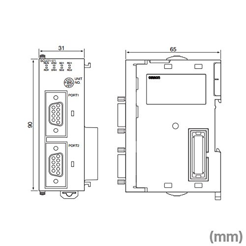 OMRON CJ1W-SCU41-V1 Serial Communications Unit 1 RS-232C Port And RS-422A/485 Port NN