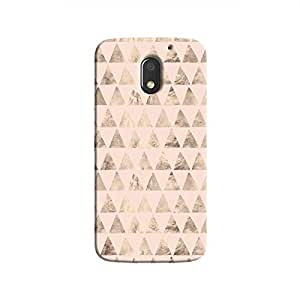 Cover It Up - Brown Light Pink Triangle Tile Moto E3 Hard Case