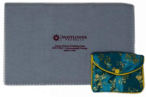 (Mayflower Polishing Cloth for Cleaning Silver, Gold and Platinum Jewelry -NON TOXIC- Made In USA- Size 11