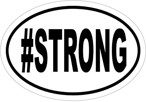 WickedGoodz Oval # Strong Vinyl Decal Perfect Inspirational Gift Inspirational Bumper Sticker