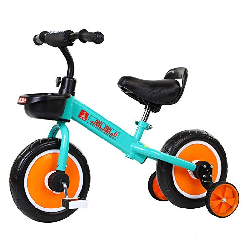 Trike for 3 Year Old Kids Tricycle Children 4 Wheeler Pedal Smart Design PU seat,Toddlers Children Ride Pedal Trike Bike Metal Frame, Blue