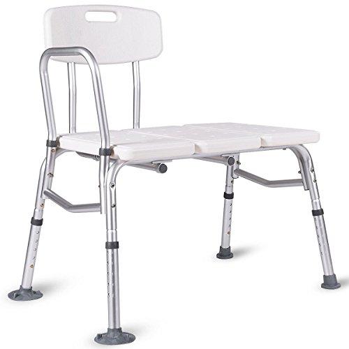 Giantex Shower Bath Seat Medical Adjustable Bathroom Bath Tub Transfer Bench Stool Chair by Giantex