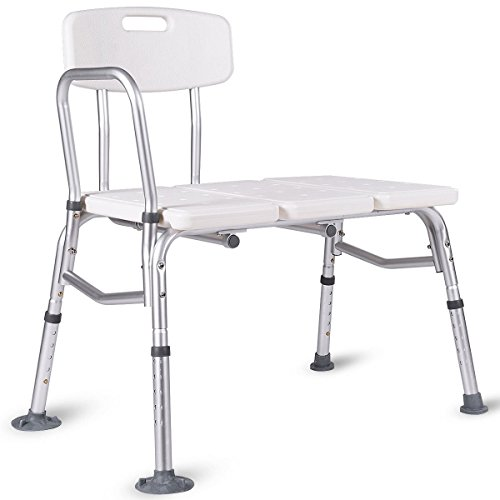 Giantex Shower Bath Seat Medical Adjustable Bathroom Bath Tub Transfer Bench Stool Chair by Giantex (Image #9)