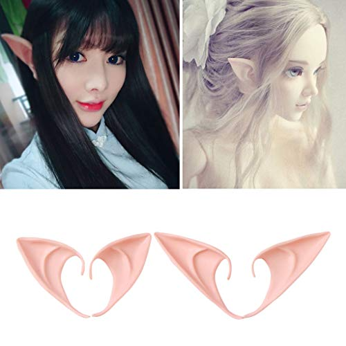 cici store Halloween Elf Ears for Kids Cosplay Costumes Props,Party Girls Anime Fairy Vampire Cosplay Porps,1 Pair (10cm) ()
