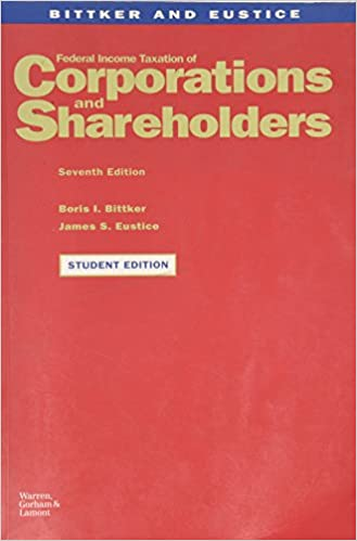Federal income taxation of corporation and shareholders boris i federal income taxation of corporation and shareholders 7th pkg edition fandeluxe Image collections