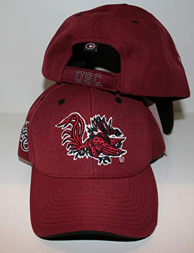 ZHATS University of South Carolina USC Gamecocks Red/Maroon Second to None Adult Mens Baseball Hat/Cap Size - South Carolina Hats University