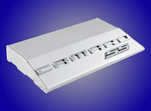2010-2015 Chevy Camaro Anodized Aluminum Fuse Box Cover with White SS Emblem (Dress Up Fuse Box Cover)