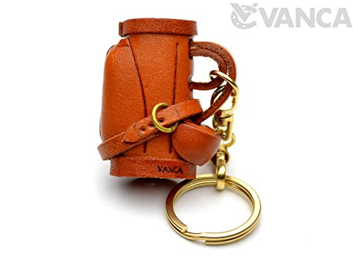 Golf Bag Keychain (Golf Bag Sports 3D Leather Keychain(L) VANCA CRAFT-Collectible Keyring Charm Pendant Made in Japan)