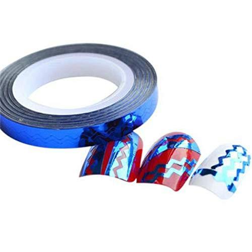 - X2 Chevron Design Nail Art Rolls Striping Tape Colorful Nail Stickers Lines DIYРІв