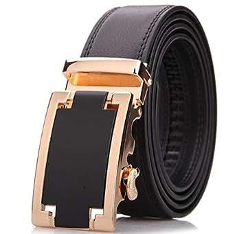 Gold Leather Belt For Men