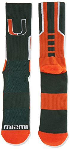 Donegal Bay NCAA Miami Hurricanes Sport Socks, Green, One Size by Donegal Bay