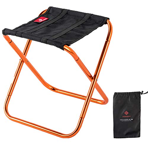 Compact Camp Stool Folding Ultralight Portable Mini Chair for Camping Fishing Hiking Gardening Beach Outdoor Chair for Kid Alduts Orange