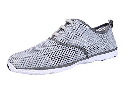 CUSTOME Hombre Respirable Zapatos aqua Zapatos de agua gris