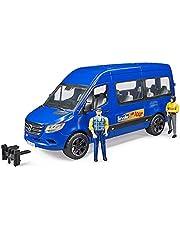 Bruder 02670 - MB Sprinter Transfer met bestuurder en passagier incl. 2 figuren en voertuig