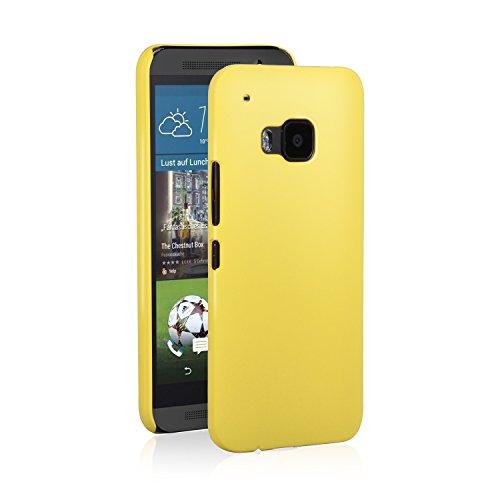 HTC One M9 Case, NOOT PRODUCTS® Basics Ultra Slim Fit [Perfect Fit] Premium Matte Finish [Lifetime Warranty] Minimalist Hard Case for HTC One M9 (Hima) 2015 (Yellow - Ultra Slim)