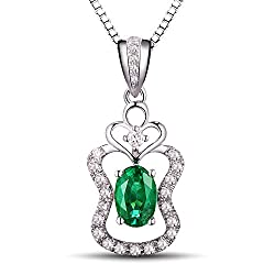 Columbia Emerald Diamond Pendant