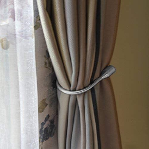 Noir Reeseiy 1 Paire dembrasses de Rideaux Modernes en Alliage avec Cristal Artificiel Style Vintage Unique Rose Env Polyester Size 6 x 6 cm Bronze
