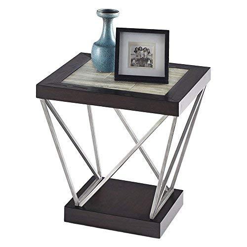 Progressive Furniture T370-04 East Bay Rectangular End Table, Black