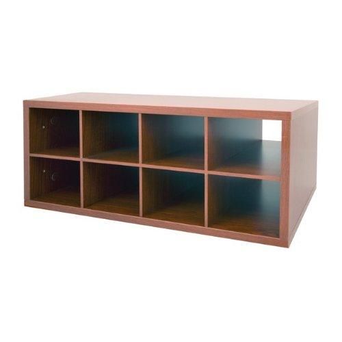 Organized Living freedomRail 8-Cubby Shoe Storage OBox - Modern Cherry