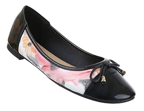Damen Ballerinas Schuhe Loafers Slipper Slip-on Flats Pumps Schwarz Multi  Beige Rosa 36 37 540006d09e