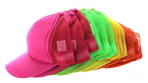 Bright Trucker Hats Lot of 12 Neon Mesh Foam Front Hat Baseball Adjustable Cap (Good Trucker Hat)