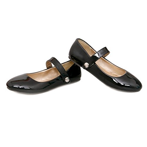 Working Jane Court Women Flats Comfortable SJJH 4 Marry and Large Black with Shoes Flat Colors Bwx7xvqd