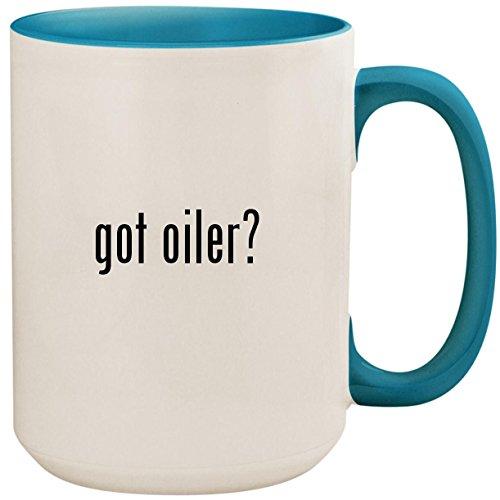 got oiler? - 15oz Ceramic Colored Inside and Handle Coffee Mug Cup, Light Blue
