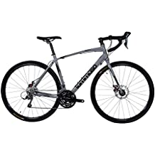 Tommaso Sentiero Shimano Claris Gravel Adventure Bike With Disc Brakes Perfect For Road Or Dirt Trail Touring, Matte Black, Grey