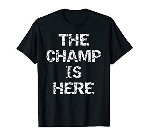 Funny Fantasy Football Championship Trophy The Champ is Here T-Shirt