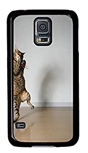Samsung S5 rubber cover Cats Animals Funny PC Black Custom Samsung Galaxy S5 Case Cover by supermalls
