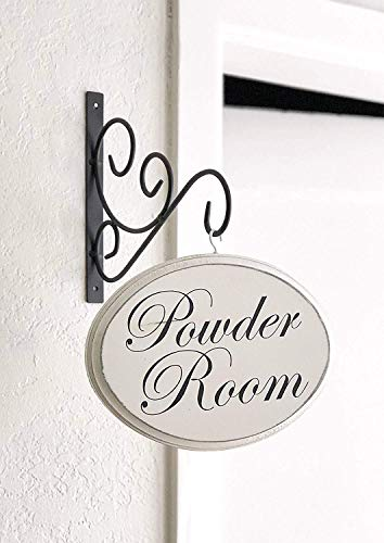 MarthaFox 17×22cm Powder Room Sign Hanging Powder Room Sign Restroom Sign Bathroom Wall Decor Bathroom Signs Gift for her CB 674109