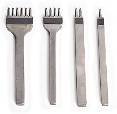 3//4mm Leather Craft Tools Diamond Hole Punche Stitching Prong Punch Tools Diy