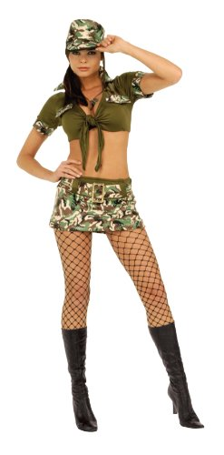Sergeant Camo Adult Boots (Secret Wishes  Costume Booty Camp Sergeant Women's Costume, Multi, X-Small)