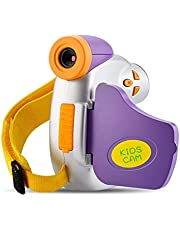 Kids Camera Video 1080P Full HD Digital Camcorder for Child Gifts Toys Camera with Funny Photo Frame for 3-9 Years Old Boys Girls Rechargeable Recorder
