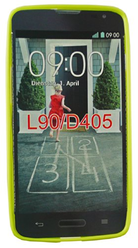 Emartbuy® LG L90 Dual Lunares TPU Gel Funda Carcasa Case Cover Multicolor Verde Lustroso Gel