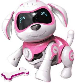 Rctecnic Chien Robot Rock Chien Jouet Interactif Avec Emotions Et Mouvement Abois Et Jeux Avec Son Os Batterie Rechargeable Et Câble Usb Très