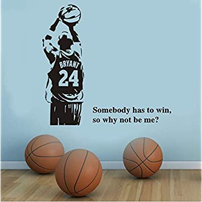 Basketball Inspirational Wall Decal Stickers Basketball Quote Decals #24 Decal Somebody Has to Win So Why Not Be Me Quote Decals: Baby