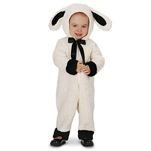 Black and White Baby Lamb Toddler Costume 2-4T