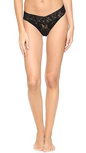 Original Rise Thong Panty (Hanky Panky Signature Lace Original Rise Thong Panty Black O/S)