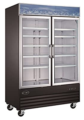 Amazon!! Heavy Duty Glass Door Merchandiser Commercial Reach-In Refrigerator! Merchandiser Reach in!