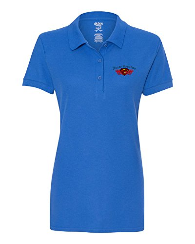 Grandma Golf Shirt (SUPER GRANDMA Custom Personalized Embroidery Embroidered Golf WOMEN Polo Shirt)