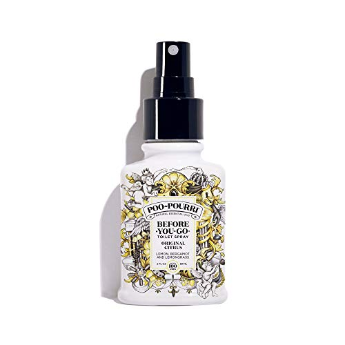 (Poo-Pourri Before-You-Go Toilet Spray 2 oz Bottle, Original Citrus Scent)