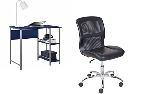 Student chair and desk office set by Unknown