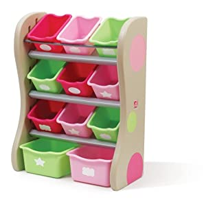 step2 fun time room organizer bins pink toys games