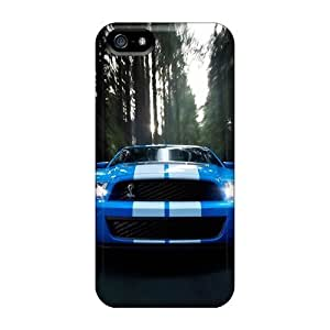 First-class Case Cover For Iphone 5/5s Dual Protection Cover Blue Mustang Gt Hd Wide