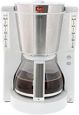 Melitta Look De Luxe 1011-05 - Cafetera de filtro, Aromaselector, blanca/acero