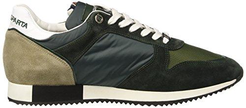 D'Acquasparta Cosimo, Sneaker a Collo Basso Uomo Verde (Nylon Verde)